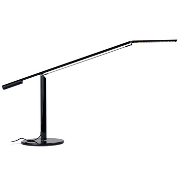 Equo LED Warm White Desk Lamp by Koncept Lighting | elx-a-w-blk-dsk