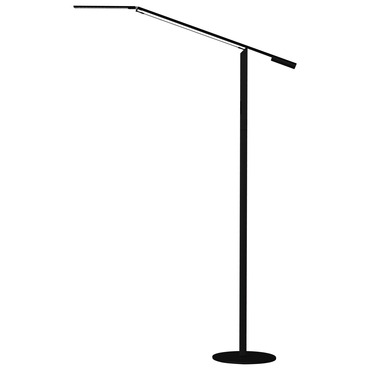 Equo LED Cool White Floor Lamp by Koncept Lighting | elx-a-c-blk-flr