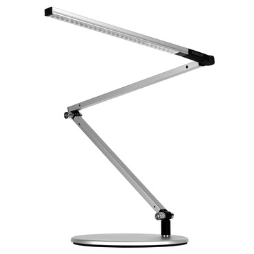 Z-Bar Mini LED Desk Lamp by Koncept Lighting | AR3100-WD-SIL-DSK
