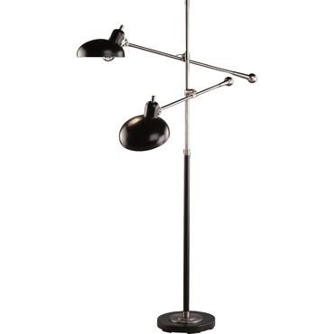 Bruno Adjustable Double Arm Pharmacy Floor Lamp by Robert Abbey | RA-1848