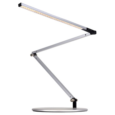 Z-Bar Slim LED Desk Lamp by Koncept Lighting | AR3200-WD-SIL-DSK