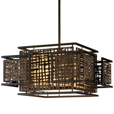 Shoji Square Pendant by Corbett Lighting | 105-44