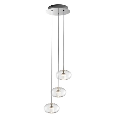 Fairy Geoid 3 Light Suspension by Leucos | LEU-0703271013465