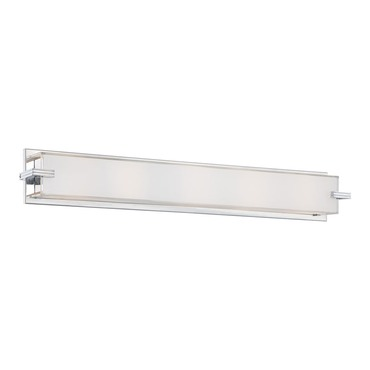 Cubism Linear Bathroom Vanity Light by George Kovacs | P5217-077