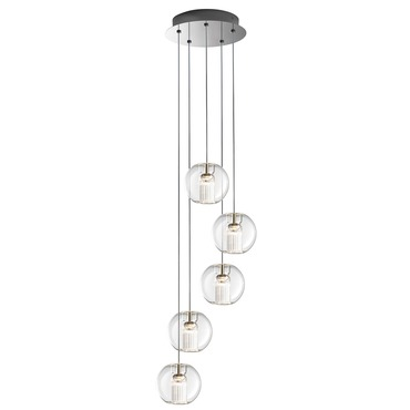 Fairy Sphere 5 Light Suspension by Leucos | LEU-0703278013465