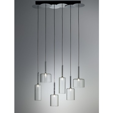 Spillray Linear Suspension by Axo Light | USSPILL6CSCR12V