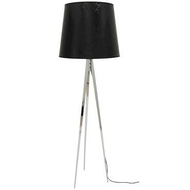 Magnum Floor Lamp by Lightology Collection | LC-MAGNUM-F-BK-CH