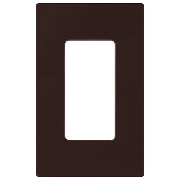 Claro 1-Gang Wall Plate by Lutron   cw-1-br
