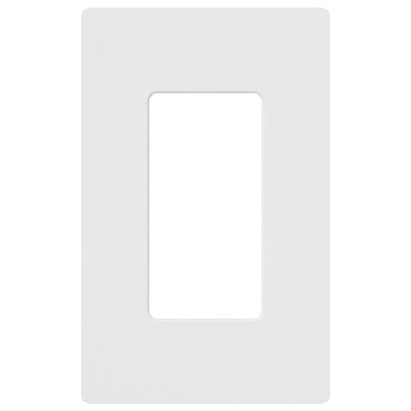 Claro 1-Gang Wall Plate by Lutron | cw-1-wh