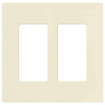 Claro 2-Gang Wall Plate by Lutron | cw-2-al