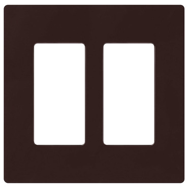 Claro 2-Gang Wall Plate by Lutron | cw-2-br