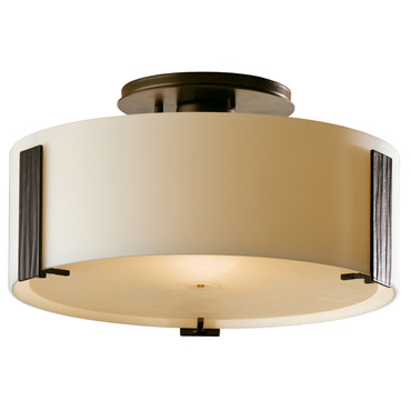 Impressions Small Semi Flush Mount by Hubbardton Forge | 126753-07-G218