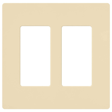 Claro 2-Gang Wall Plate by Lutron | cw-2-iv