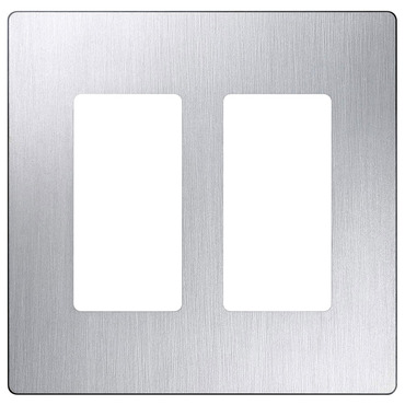 Claro Designer Style 2 Gang Wall Plate