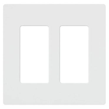 Claro 2-Gang Wall Plate by Lutron | cw-2-wh
