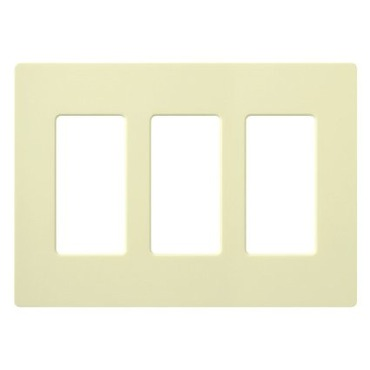 Claro Designer Style 3 Gang Wall Plate by Lutron | CW-3-AL