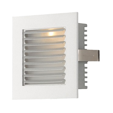 Recessed LED Step Light with Louver Faceplate by Alico Industries | WLE-104