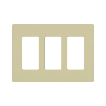 Claro Designer Style 3 Gang Wall Plate by Lutron | cw-3-iv