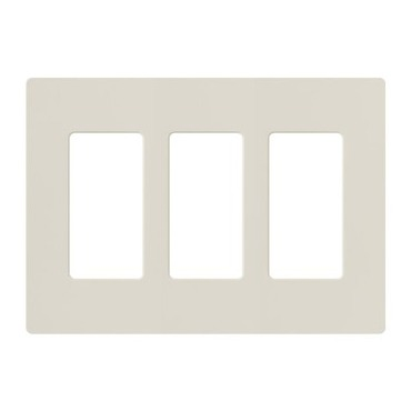 Claro Designer Style 3 Gang Wall Plate by Lutron | cw-3-la