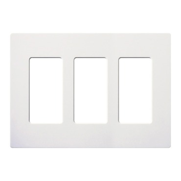Claro Designer Style 3 Gang Wall Plate by Lutron | cw-3-wh