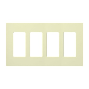 Claro Designer Style 4 Gang Wall Plate by Lutron | cw-4-al