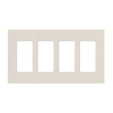 Claro Designer Style 4 Gang Wall Plate by Lutron | cw-4-la