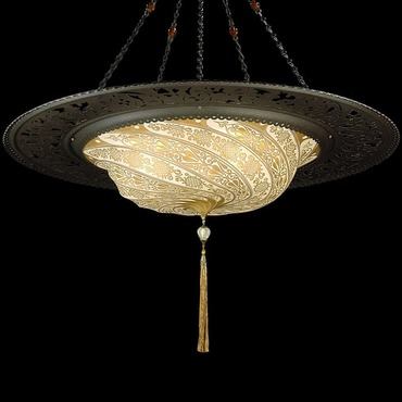 Scudo Glass with Ring Suspension by Venetia Studium   LC-G 096 SAC-1 GD