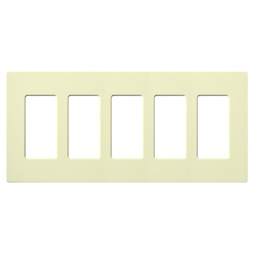 Claro Designer Style 5 Gang Wall Plate by Lutron | cw-5-al