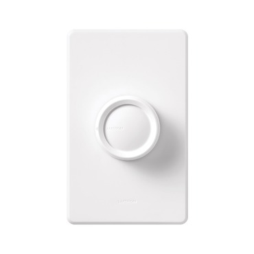 Rotary On/Off 600W Incandescent Single Pole Dimmer by Lutron | d-600r-wh