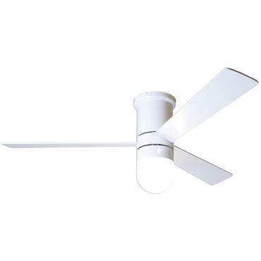 Cirrus Flush Ceiling Fan with LED Light by Modern Fan Co. | CIR-FM-GW-50-WH-354-003