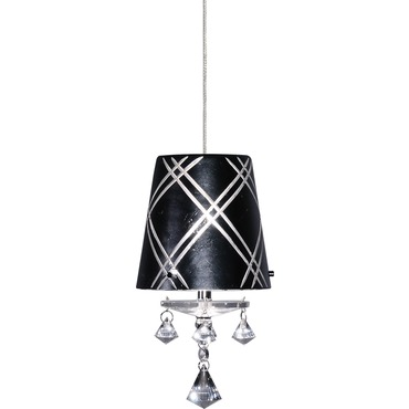 FJ Kings Crossing Pendant  by Edge Lighting | FJ-KC-BK-12-SN