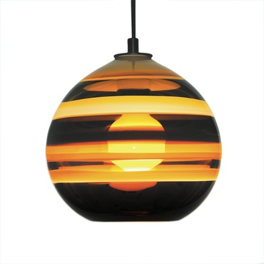 Banded Orb Pendant by Siemon & Salazar | 25-44-120-BZ-WP