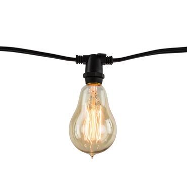 String Light Set A15 Candelabra Base 14 Foot 10 Socket