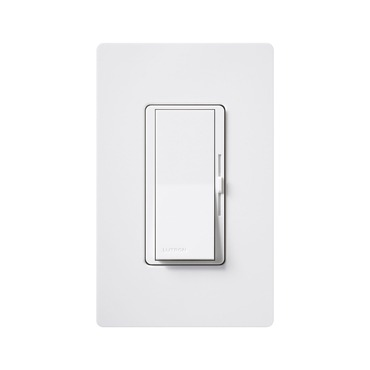 Diva 600W Incandescent 3-Way Dimmer with Wall Plate by Lutron | DVW-603PH-WH