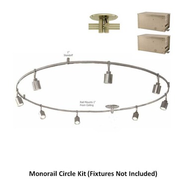 Monorail 12V 4X300 2-Circuit Circle Kit Remote Magnetic