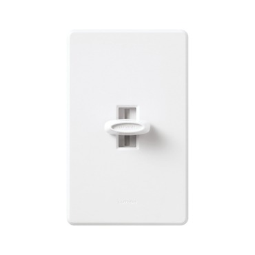 Glyder 600W Slide-to-off Single Pole Dimmer by Lutron | gl-600-wh