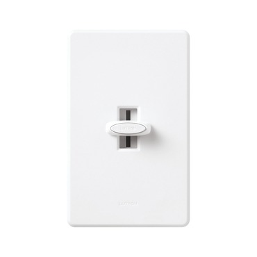 Glyder 600W Single Pole Dimmer With On/Off Switch by Lutron | gl-600p-wh