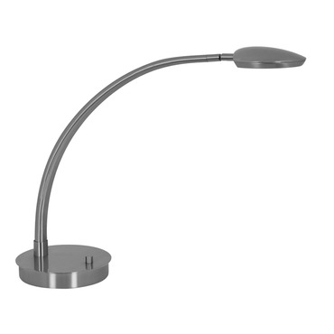 Pelle Arched Arm LED Table Lamp W / Round Base