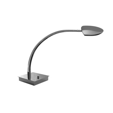 Pelle Arched Arm LED Table Lamp W / Square Base