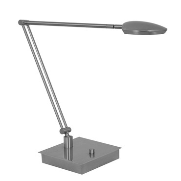 Pelle Bendable Arm LED Table Lamp W / Square Base