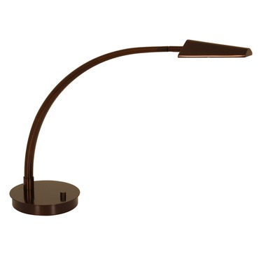 Ronin Arched Arm LED Table Lamp W / Round Base