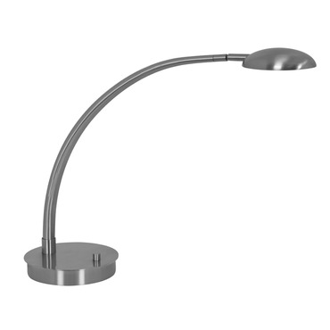 Vital Arched Arm LED Table Lamp W / Round Base