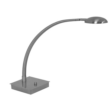 Vital Arched Arm LED Table Lamp W / Square Base