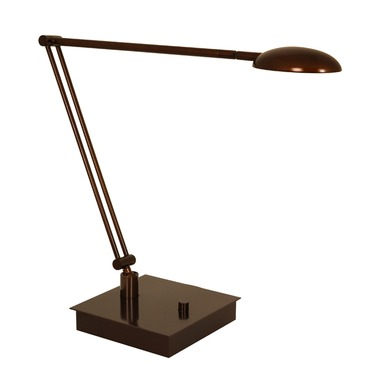 Vital Bendable Arm LED Table Lamp W / Square Base
