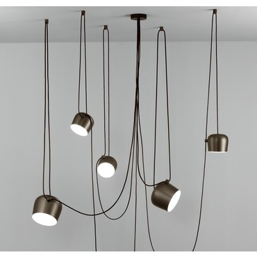 Modern lighting contemporary lighting by flos lighting aim 5 light pendant aloadofball Choice Image
