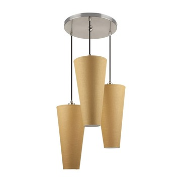 Trilogy Multi Pendant by Lights Up | FM-RS-9003BN-GOL