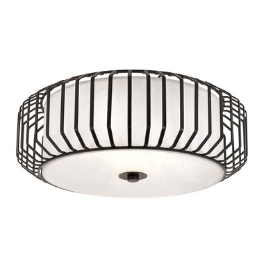 Caged Glass Ceiling Flush Mount