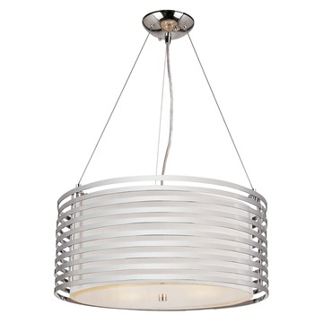 Chrome Rails Pendant by Trans Globe | PND-873