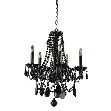 Black Tie 5 Light Chandelier by Glow Lighting | 583jd5ljb-7j