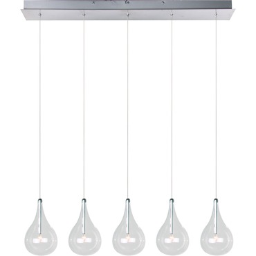 Larmes 5 Light Linear Suspension